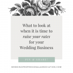 When Should You Raise Your Wedding Rates?