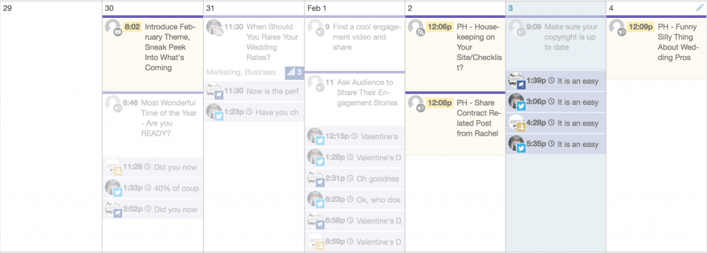 How we use CoSchedule for Wedding Professional Association